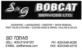 S&G Bobcat Services Ltd.