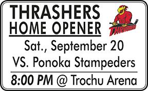 Thrashers Home Opener