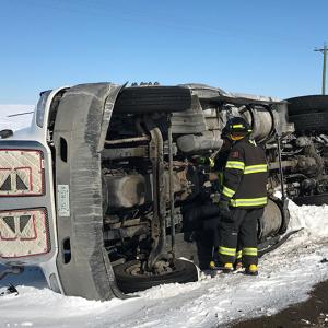 Emergency crews respond to Highway rollover