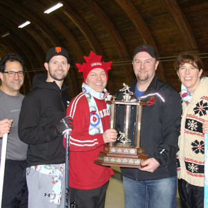 Brucker rink claims top prize at Huxley All Nighter Curling Bonspiel