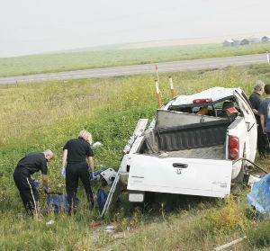 Major injuries avoided in head-on collision