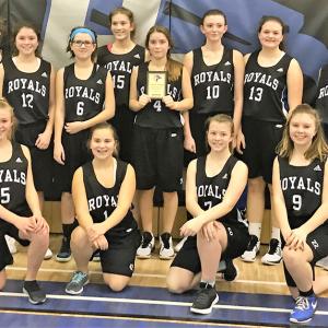 Three Hills School Jr. A Girls Basketball team bring home bronze