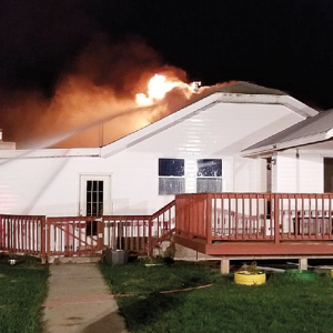 Home destroyed in weekend blaze