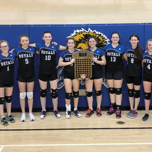 Three Hills School Jr. A Girls Volleyball team claim League Championship