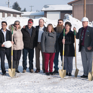 Ground breaks for new Delburne Medical Centre