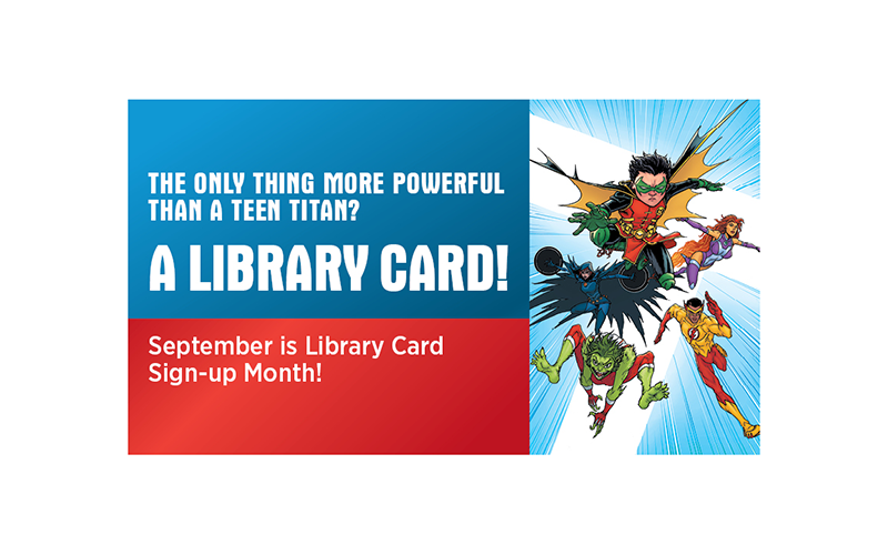 library card sign up month facebook cover