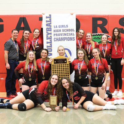 Acme Senior Girls Volleyball bring home Provincial Gold