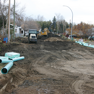 Infrastructure work underway in Acme