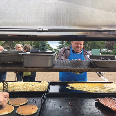 Acme Stampede Breakfast attracts special guests
