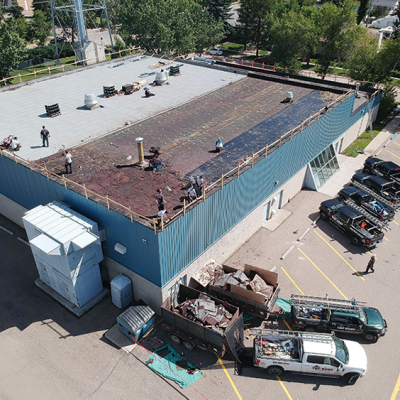 Aquatic Centre receives new roof and exterior siding