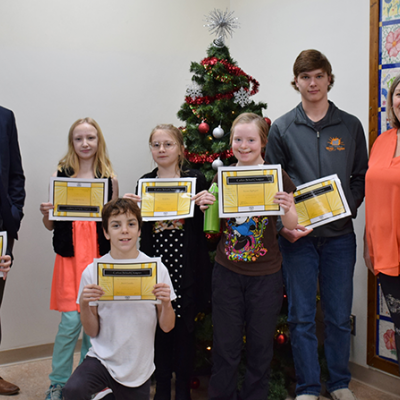 Carbon School students honoured at Breakfast of Champions
