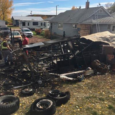 Garage lost in Carbon fire