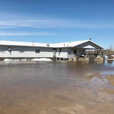 Three Hills Golf Course under water