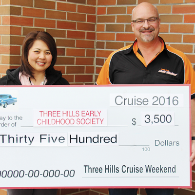 Three Hills Cruise Weekend donates to Three Hills Early Childhood Society