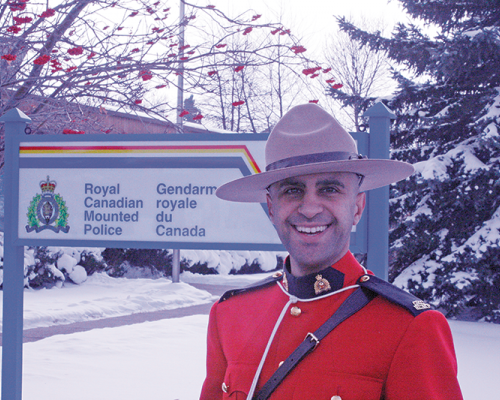 Constable Pouria Samimi welcomed to Three Hills RCMP