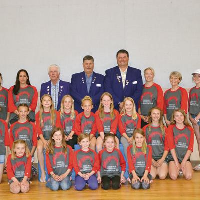 Three Hills Gymnastics Club receives $5,000 donation from Three Hills Elks #190