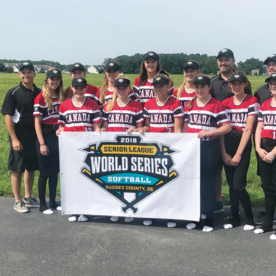 Elnora Eagles undefeated in 2018 Canada Region Senior Softball Championship