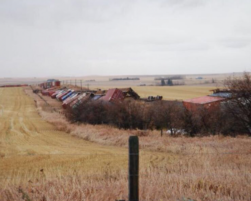 Wind a factor in Huxley train derailment