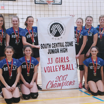 Three Hills School Girls and Boys Volleyball teams claim Central Zone 2J banners