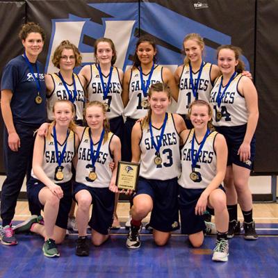 PCA Sabres Jr High A Girls Basketball team bring home gold