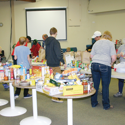 Linden Firefighters and EMS collect donations for Food Bank