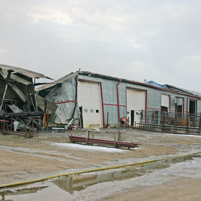 Structure fire causes extensive damage to Industrial Park