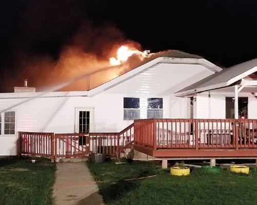Home destroyed in weekend blaze