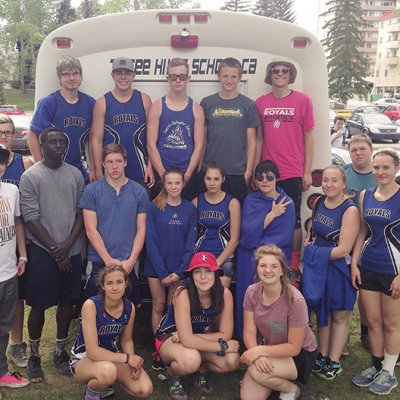 Three Hills School Senior High Track and Field team participate in South Central Zone meet