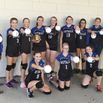 THS Jr. A Girls Volleyball team place third at PCA Tournament