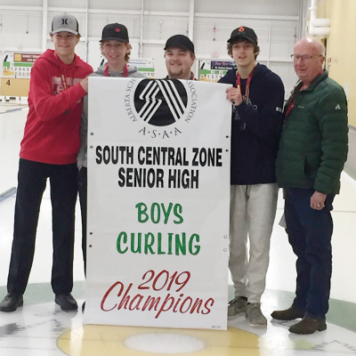 TroVal Boys Curling Team bring home Zone Gold