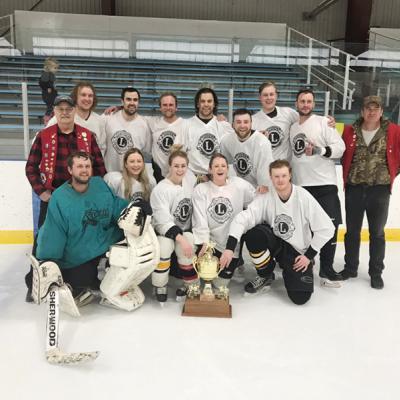 Wranglers win Trochu Lions Annual Draft Hockey Trophy