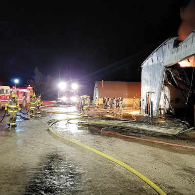 Acme Fire Department responds to vehicle/structure fire