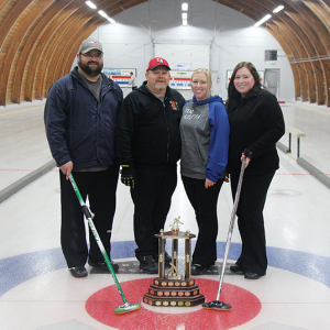 Mitch Bauer rink wins 39th Annual Huxley All-Nighter Curling Bonspiel